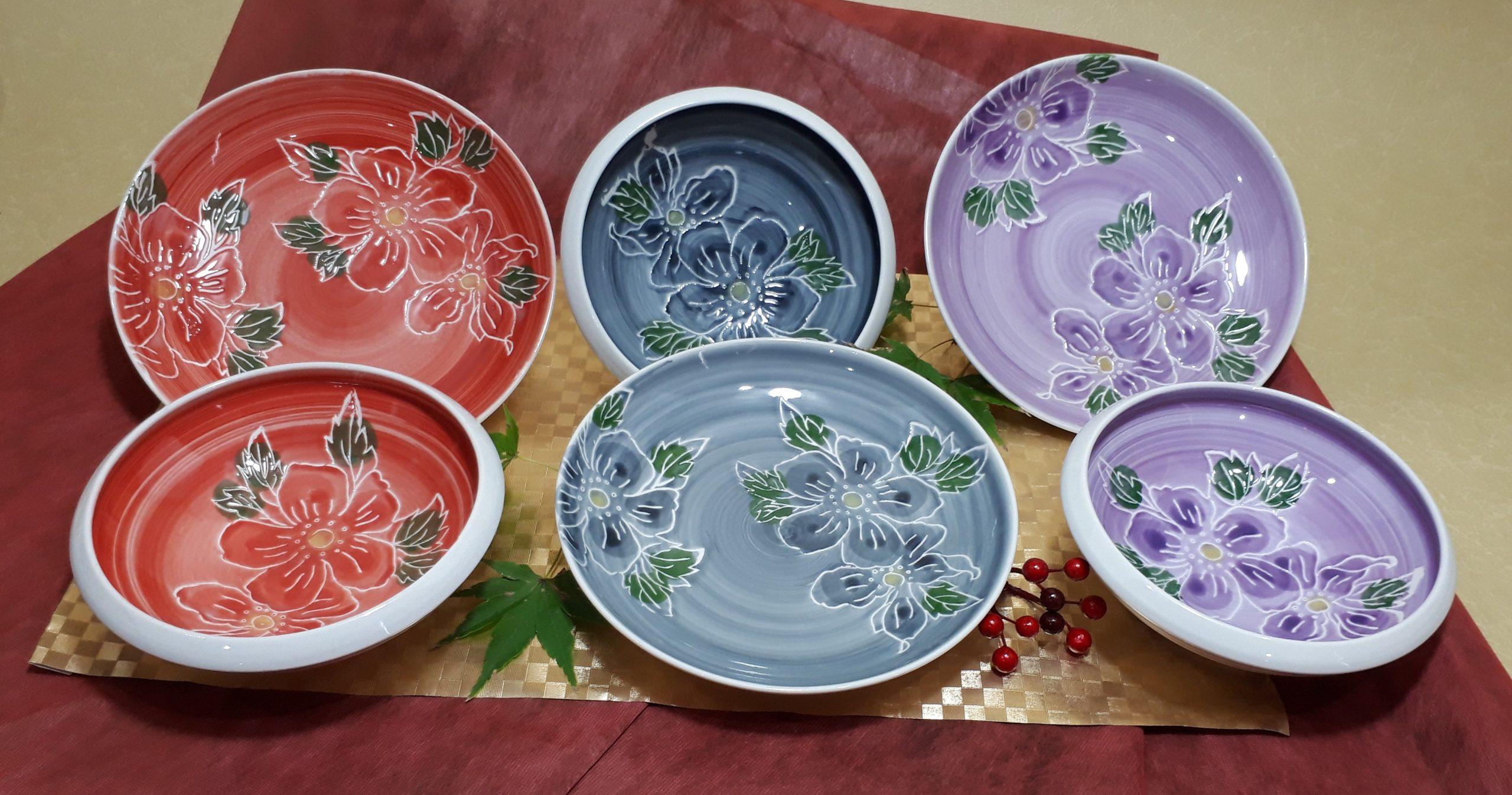 彩り取り皿セット¥3,000(税込)